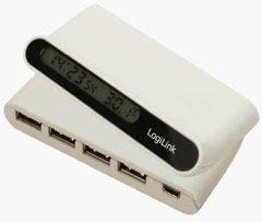 LogiLink 4 Port USB-Hub mit LCD Info