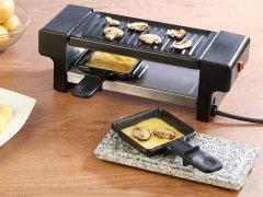 Raclette für 2 mit Grill- und Steinaufsatz