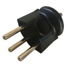 Übergangsstecker DE auf CH, Typ T12, 3-polig, schwarz