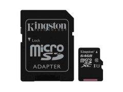 microSD-Speicherkarte 64 GB, CL10, mit Adapter