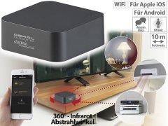 Lernfähige IR-Universal-Fernbedienung mit WLAN und App-Steuerung