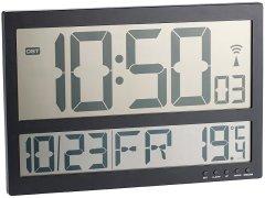 Digitale Funk-Wanduhr mit Mega-LCD-Display und Temperatur-Anzeige