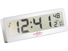 Kompakte Funkuhr mit riesigem LCD-Display und Temperatur-Anzeige