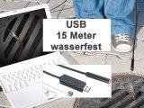 Wasserfeste USB-Endoskop-Kamera mit 15m-Kabel und LEDs
