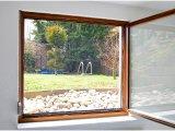 Fliegengitter für Fenster  130 × 150 cm inkl. 6 m Klebeband
