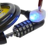Kabelschloss mit LED-Leuchte für Fahrrad usw.