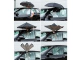 Coolbrella - umgekehrt zusammenklappbarer Regenschirm