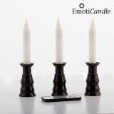 LED-Kerzen für romantisches Ambiente, 3er Pack