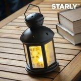 Starly LED-Laterne, schwarz