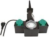 2-fach Garten-Steckdose IP44 mit Zeitschaltuhr und Erdspiess