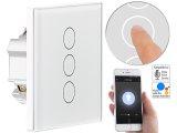 Touch-Dreifach-Lichtschalter mit WiFi