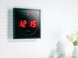 LED-Funk-Wanduhr mit Sekundenlauflicht, rot