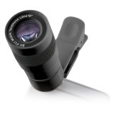8x-Zoom-Clip-Objektiv für Smartphone, F/1.1 schwarz