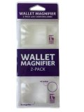 Brieftaschen-Lupe Wallet Magnifier, 2er-Pack